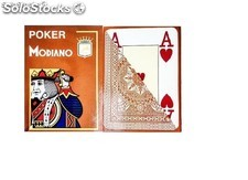 Cartas y Barajas Modiano Poker Jumbo marrón