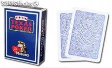 Cartas y Barajas Modiano Texas Poker Jumbo azul