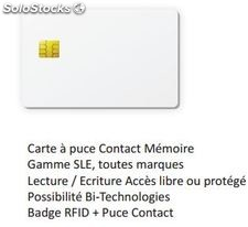 Carte à puce contact mémoire