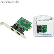 Carte PCI-Express Gigabit 2 ports LogiLink PC0075