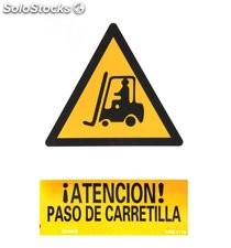 Cartel Atencion Paso Carretilla 30x21