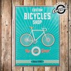 Cartel de Chapa Bicycles Shop Vintage Coconut