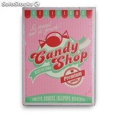 Cartel de chapa Candy Shop
