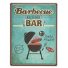 Cartel de Chapa Retro Barbecue - Foto 2