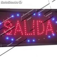 Cartel led salida