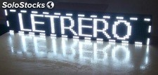 Cartel luminoso LED programable electrónico 192x16 cm Blanco.