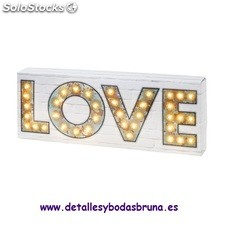 Cartel Luminoso Love. Decoracion original para boda, fiestas, candy bar