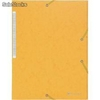 Cartelle 3 lembi king folder scotten - nature future exacompta - giallo - 55759e (conf.10)