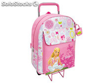 Cartera escolar safta barbie mochila escolar trolley 330X420X140 mm