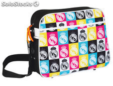 Cartera escolar safta real madrid colores bandolera 37x29x12 cm
