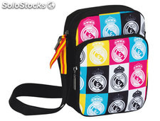 Cartera escolar safta real madrid colores bolso porta video juegos 16x22x6 cm