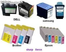 cartucho de tinta para Dell samsung brother Epson sharp Xerox