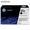 Cartucho de toner compatible y original hp CE505a