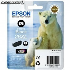 Cartucho EPSON 26xl 8.7ml negro foto - oso polar