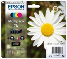 Cartucho epson multipack 4-colores 18 claria home
