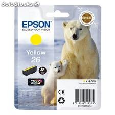 Cartucho epson T26 xp 600 605 700 800 amarillo