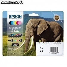 Cartucho multipack EPSON 24xl 55.7ml 6 colores (negro / amarillo / cian /