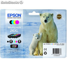 Cartucho multipack epson 26XL 41.3ML