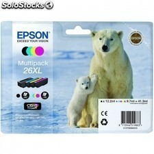 Cartucho multipack EPSON 26xl 41.3ml 4 colores - oso polar
