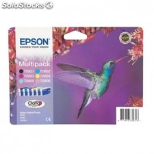 Cartucho multipack epson T0807 - 44.4ML - 6 colores (negro / amarillo / cian /