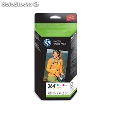 Cartucho orig hp nº 364 value pack c y m 3 colores