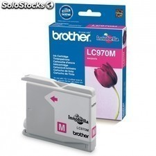 Cartucho tinta BROTHER lc-970 300 paginas magenta