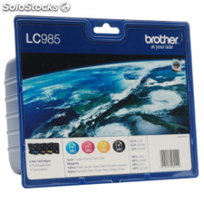 Cartucho tinta brother lc-985 value pack negro/color