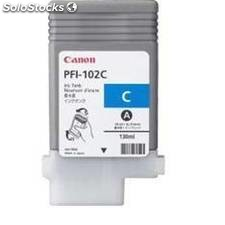 Cartucho tinta canon cian pfi102 cartidge pfi-102m 130ml lp/17/24