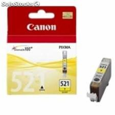 Cartucho tinta canon cli 521 amarillo 9ml pixma 3600/ 4600/ 4700 mp 540/ 550/