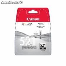 Cartucho tinta canon cli 521bk negro 9ml pixma 3600/ 4600/ 4700/ mp540/ 550/