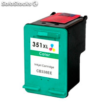 Cartucho tinta compatible con HP 351XL color reemplaza CB338EE