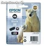 Cartucho tinta epson T261140 negro photo black 26 xp-600/605/700/800