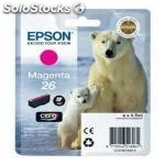 Cartucho tinta epson T261340 magenta photo 26 xp-600/605/700/800