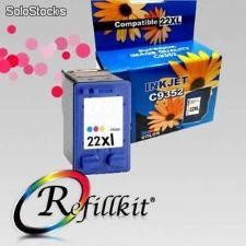 Cartuchos Alternativos InkJet HP 22XL Color compatible C9352A Doble carga
