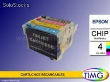 Cartuchos Recargables Alternativos - Epson t25 / tx125 / tx123 - Colorante