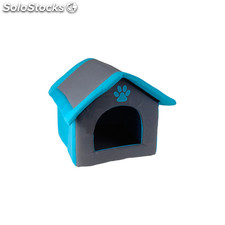 Casa para mascotas acolchada azul - pets collection - DM5000500