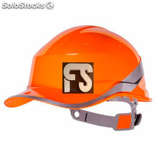Casco de obra diamond v (color : naranja)