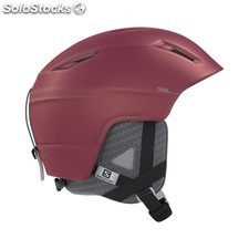 Casco esquí salomon PEARL2 beet red mujer