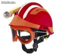 Casco gallet f2 con lámpara y googles