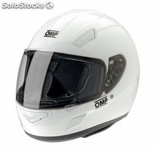 Casco omp circuit blanco talla xl