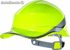 Casco proteccion amarillo fluo delta plus