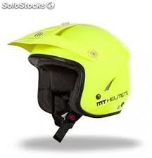 Casco trial mt tr one amarillo fluor t-s