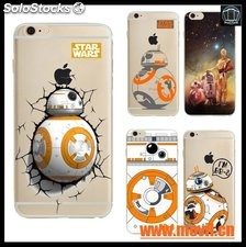 case cover Para apple iphone 6 6 s case star bb-8 droid robot soft tpu