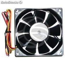 Case fan 80x80x20 mm for 12 VDC for computer and chassis with ball bearing 2X