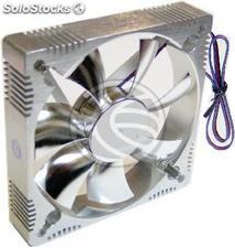 Case fan of aluminum 90x90x25 mm for 12 VDC for computer and chassis (VL74)