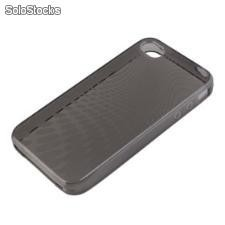 Case ultrafino pc para o iphone 4/4s (preto translúcido)