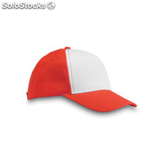 Casquette baseball 5 pans MO8651-05, rouge