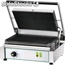 Cast iron contact grill - electric - mod pe 35re - single grooved grill -