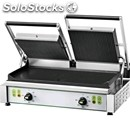 Cast iron contact grill - electric - mod pe 50l - double smooth grill - cooking