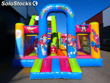 Castillo hinchable combo tobogan